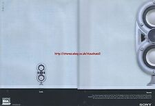 "Sony Pascal Speakers ""Look. Sound"" 2000 Magazine 2 Page Advert #4245"