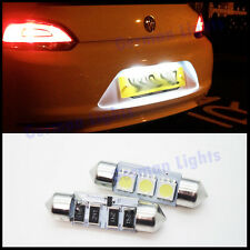 2PC 3 SMD LED 36MM 239 272 CANBUS WHITE NUMBER PLATE INTERIOR LIGHT FESTOON BULB