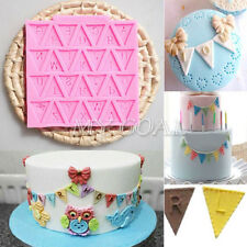 Letter Flag Bunting Silicone Cake Fondant Mold Baking Decorating Chocolate Mould