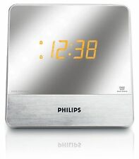 Philips AJ3231/37 Mirror Finish Dual Digital Alarm Clock AM/FM Radio
