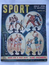 Sport Magazine March 1951 Boxing Hockey Basketball on Cover Vintage Ex Condition