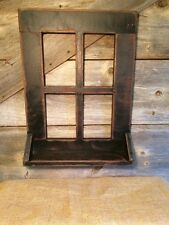 PRIMITIVE BLACK SMALL WINDOW/Country/Rustic/Distressed/Old/Worn