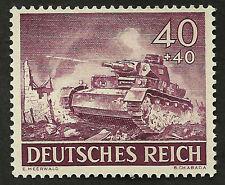 1943 WWII Nazi Germany Panzer Tank War Mint Original Stamp Blitzkrieg
