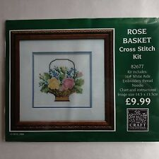 "Craft Collection Cross Stitch Kit ""Rose Basket"""