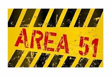 UFO Area 51 funny door Sign Sticker Decal Graphic Vinyl Label
