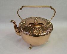 C1890 Antique Benham & The Art Nouveau artesanías hervidor de té cobre y latón