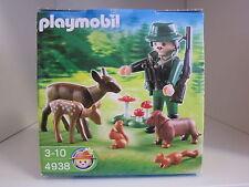PLAYMOBIL  réf. 4938 OEUF : LE CHASSEUR ET LES ANIMAUX, neuf - mint condition