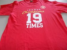 MANCHESTER UNITED - CHAMPIONS 19 TIMES OFFICIAL T-SHIRT-LRG-SEE DESC FOR SIZING