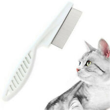 FD2660 Stainless Pet Dog Hair Flea Comb Pin Cat Shedding Grooming Brush Tool ☆