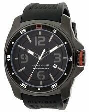 Tommy Hilfiger Mens Sport Black Ion Silicon Watch 1790708