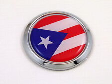 Puerto Rico Round Decal Flag Car Chrome Emblem Sticker bumper badge 3D