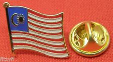 Malaysia Country Flag Lapel Hat Cap Tie Pin Badge Asia Gift Souvenir Brooch