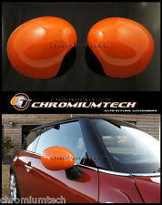 MINI Cooper/S/ONE R55 R56 R57 ORANGE WING MIRROR Caps Covers for Manual Fold NEW