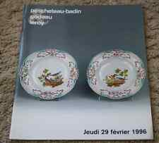 CATALOGUE VENTE 1996 FAIENCES PORCELAINES de l'est Françaises et étrangères