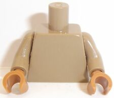 Lego Dark Tan Torso & Arms x 1 with Dark Flesh Hands for Minifigure