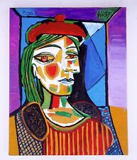 """Pablo Picasso - Rare Oil Painting """"WOMAN in a RED HAT"""""""