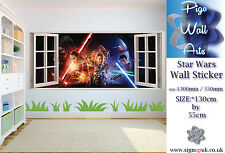Star Wars wall sticker The Force Awakens (2015) Kids Bedroom x large wall decal.