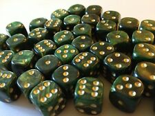 Hobby Marine Space Chaos MTG Wargames BNIB 12mm Interferenz Green Dice D6 x 20