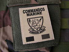 Patch Velcro - COMMANDOS MARINE - FRANCE FORCES SPECIALES - COS format TAN