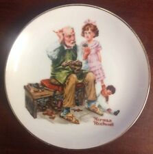 """Vintage Norman Rockwell 6.5"""" Plate """"The Cobbler"""""""
