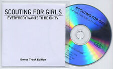 SCOUTING FOR GIRLS Everybody Wants To Be On TV Sampler UK 4-trk promo test CD