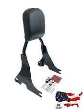 GLOSS BLACK HARLEY SPORTSTER XL DETACHABLE BACKREST SISSY BAR +DOCKING 2004-2016