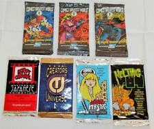 Comic Book Cards from the 1990s' - 7 Different Sealed Packs - Lot B