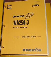 PARTS MANUAL FOR WA250-3MC SERIAL A71000 KOMATSU WHEEL LOADER