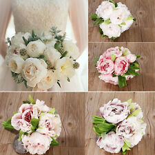 New Artificial Bridal Hydrangea Fake Peony Silk Flower Home Wedding Decor