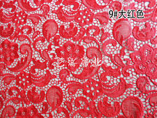 G4 red Guipure Lace bridal lace 120cm wide-Sold  by 1/2 yard