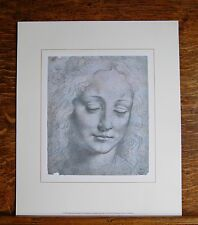 Study for the Head of a Woman by Leonardo da Vinci (1452-1519) - Litho Print