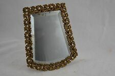 ANTIQUE FRENCH gilt framed easel back travelling bevel mirror 19th century