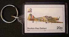 RAF BOULTON PAUL DEFIANT WWII Fighter Aircraft Stamp Keyring