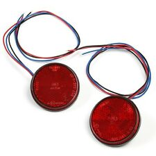 Motorcycle LED Round Reflector Rear Tail Light License Brake Turn Signals Light