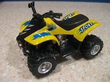 ATV QUAD DIE CAST PULL BACK ACTION NO BATTERIES ALL TERRAIN VEHICLE YELLOW SHOCK