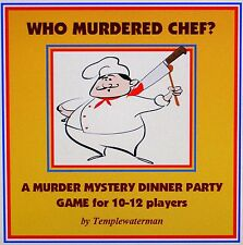 HOST A MURDER MYSTERY DINNER PARTY GAME ~ FOR 10~12 PLAYERS ~ WHO MURDERED CHEF?