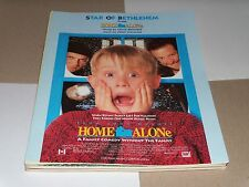 Star of Bethlehem sheet music from film HOME ALONE 1990 4 pages (M- shape)