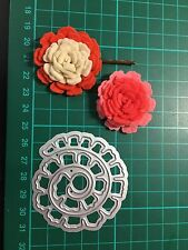 D20 Rolled Thinlits Flower Cutting Dies For Sizzix Spellbinders Xcut Etc Cutter