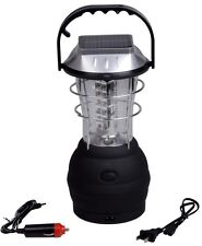 3 Modes Hand Crank Dynamo Solar 36 LED Bright Lantern Outdoor Camping Work Light