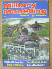 MILITARY MODELLING MAGAZINE SEPTEMBER 1974 BRITISH AFV MARKINGS - LUFTWAFFE UNIF