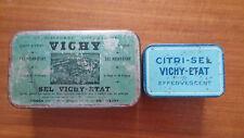 """Boites Métallique Ancienne """"Vichy"""" Lot de 2."""