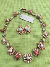 Marchesa Crystal Collar Necklace $295+Marchesa Earrings!!!! Beautiful!! Lot Of 2