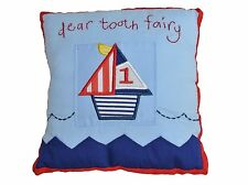 GISELA GRAHAM GRAHAM 'DEAR TOOTH FAIRY' CUSHION SHIPS NAUTICAL BOYS BEDROOM