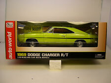 AUTO WORLD 1:18 SCALE DIECAST DIRTY MARY AND CRAZY LARRY 1969 DODGE CHARGER R/T