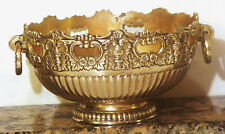 F.B. Rogers Vintage Monteith Silver Plate Ornate Ringed Pedestal Bowl