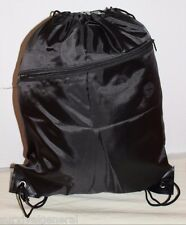 Drawstring Black Children's Gym Tote Bag School Sport Pack Survival Backpack