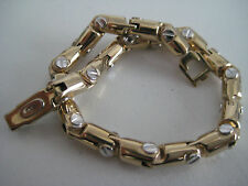 9ct yellow & white gold fancy chunky screw linked bracelet SPECIAL ARRIVAL