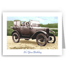 Austin 7 Vintage Car Birthday Card