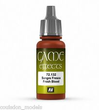 Vallejo Game Color Effects - 72.132 Fresh Blood - 17ml Acrylic Fantasy Paint