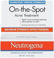 6 Pack Neutrogena Vanishing Cream On-The-Spot Acne Treatment Max Strength .75oz